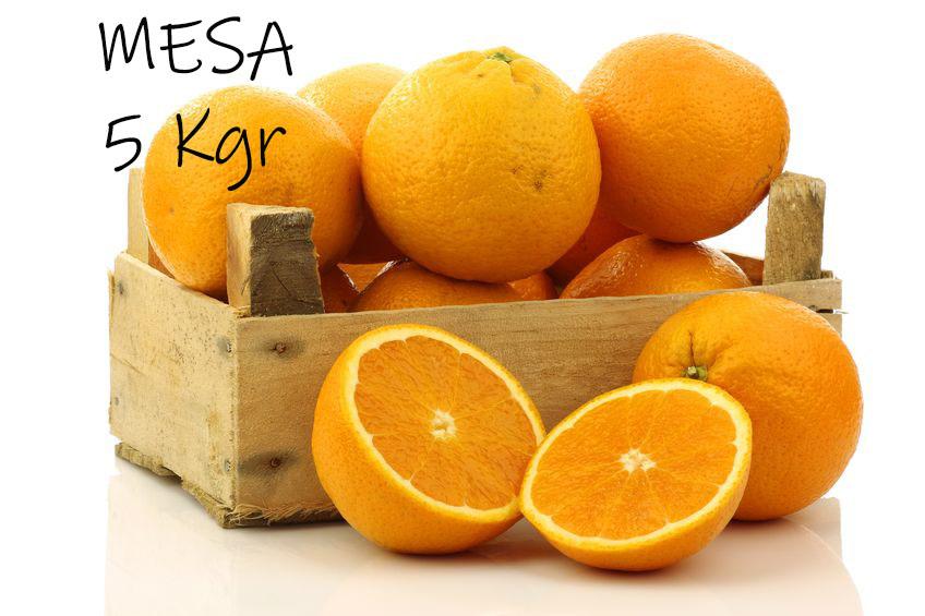 Caja de 5 kgr de naranja de mesa