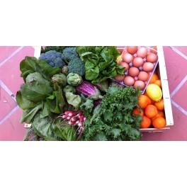 Caja de Verduras y Huevos de caserio